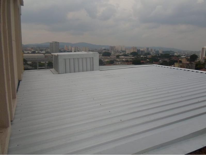 Coberturas com Telhas Metálicas Preço Alphaville - Coberturas com Telhas de Alumínio