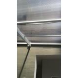 cobertura com policarbonato alveolar preço m2 Aeroporto