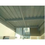 cobertura de garagem com telhas galvanizadas preço Taboão da Serra