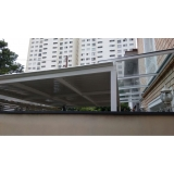 cobertura de garagem com telhas galvanizadas valor Parque São Jorge