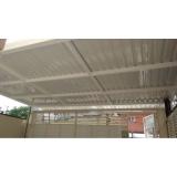cobertura de garagem com telhas metálicas Santos