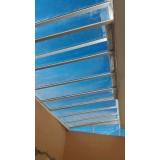 cobertura de policarbonato alveolar para garagem preço Vila Endres