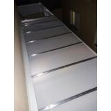 cobertura de policarbonato alveolar para janelas preço m2 Mooca