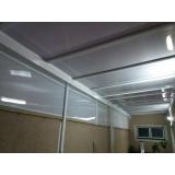 cobertura de policarbonato alveolar para lavanderia Pinheiros