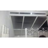 cobertura de policarbonato alveolar para piscina preço m2 Mooca