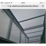 cobertura de policarbonato alveolar para piscina Embu Guaçú