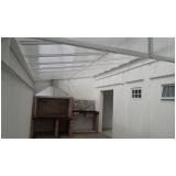 cobertura de policarbonato alveolar para quintal preço m2 Vila Matilde