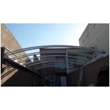 cobertura de policarbonato compacto para quintal preço m2 Parque Colonial