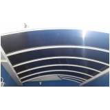 cobertura de policarbonato fixa para piscina preço m2 Jardim Santa Helena