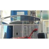 cobertura de policarbonato fixa para piscina preço Parque Colonial