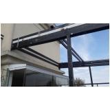 cobertura de policarbonato fixa para quintal preço m2 Moema