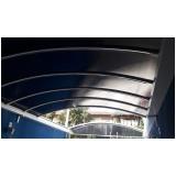 cobertura de policarbonato fixa para varandas preço m2 Morumbi