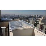 cobertura de policarbonato para jardim de inverno preço Parque São Rafael