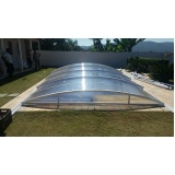 cobertura de policarbonato para piscina Guaianases