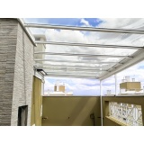 cobertura de policarbonato para quintal preço m2 Moema