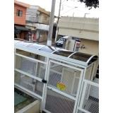 cobertura de policarbonato retrátil fumê preço m2 Jardim Bonfiglioli