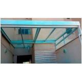 cobertura de policarbonato retrátil para garagem preço m2 Parque Anhembi