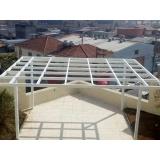 cobertura em policarbonato alveolar cristal preço m2 Jardim Iguatemi