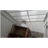cobertura em policarbonato alveolar para garagem Jardim Helian