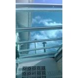 cobertura em policarbonato compacto fumê Vila Leopoldina