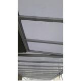 cobertura em policarbonato fixa para piscina preço m2 Jandira