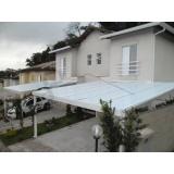 cobertura em policarbonato para garagem preço m2 Vila Dalila