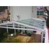 cobertura em policarbonato para garagem preço Rio Pequeno