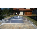 cobertura em policarbonato para piscina preço Itapecerica da Serra