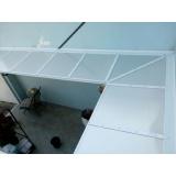 cobertura policarbonato compacto cristal preço Vila Morumbi