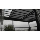 coberturas de vidro para quintal Parque do Carmo