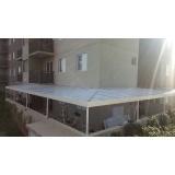 fábrica de cobertura de policarbonato compacto para jardim de inverno Cidade Jardim