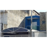 fábrica de cobertura de policarbonato fixa para quintal Salesópolis