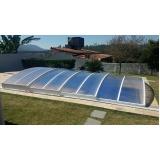 fábrica de cobertura de policarbonato para piscina Jabaquara