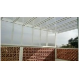 fábrica de cobertura em policarbonato alveolar 6mm Jardim Ângela