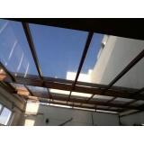 instalação de cobertura de policarbonato alveolar translúcido Campo Grande