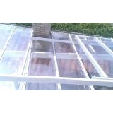 instalação de cobertura de policarbonato retrátil cristal Cantareira