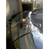instalação de cobertura em policarbonato alveolar cristal Ribeirão Pires