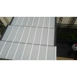 instalação de coberturas com policarbonato alveolar Parque do Carmo