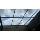 instalação de coberturas de policarbonato retráteis cristal Jardim Bonfiglioli