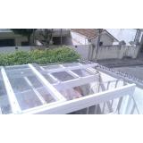 instalação de coberturas em policarbonato retráteis fumê Vila Maria