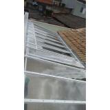 instalação de cobertura em policarbonato retrátil fumê