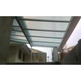 manutenção de cobertura de policarbonato alveolar em garagem Parque do Carmo