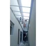 manutenção de cobertura de policarbonato alveolar em janelas preço Parque Mandaqui