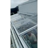 manutenção de cobertura de policarbonato alveolar em lavanderia Parque Peruche