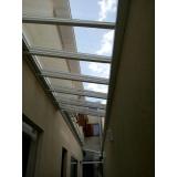 manutenção de cobertura de policarbonato alveolar em quintal em sp Vila Endres