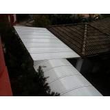 manutenção de cobertura de policarbonato em pergolado Água Branca