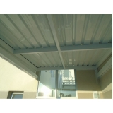 telhas de zinco acústica Jurubatuba